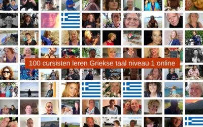 100 cursisten leren Grieks online